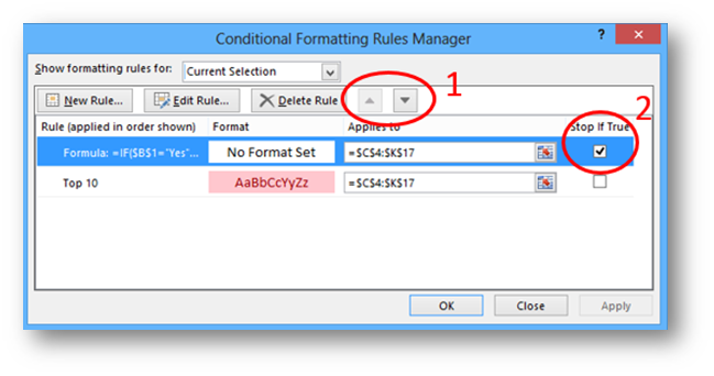 Turn Conditional Formatting On and Off
