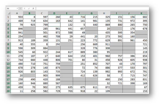 Fill All Blank Cells in an Excel Range With a Desired Value