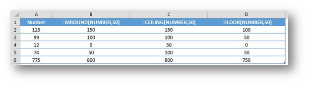 Rounding numbers to a specific multiple in Excel