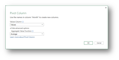 The New Pivot Column option in Power Query - Excel